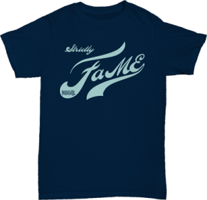 0102 LLT Strictly Fame TShirt LightBlue on Navy